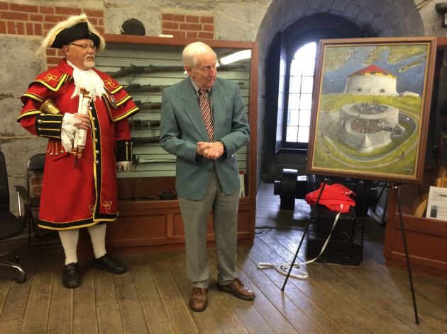 Murney Tower - Blog - Town Crier with artist Don Connolly