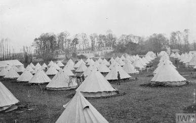 THE BRITISH EXPEDITIONARY FORCE ON THE WESTERN FRONT, 1914-1915 (Q 53106) General view of the Base Camp. Le Havre, 1914. Copyright: © IWM. Original Source: http://www.iwm.org.uk/collections/item/object/205286624